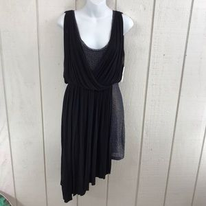 Free People black/blue combination dress size S